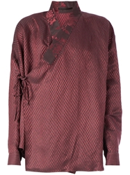 Haider Ackermann Chevron Print Wrap Shirt