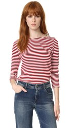 Seafarer Angel Tee Stripes Milk And Lips