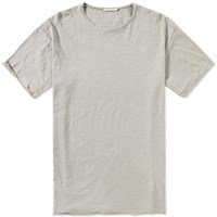 Nudie Jeans Raw Hem Tee Grey