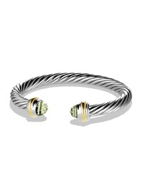 Cable Classics Bracelet With Prasiolite And Gold David Yurman