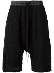 Lost And Found Ria Dunn 'Shifted' Drop Crotch Shorts Black