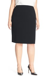 Plus Size Women's Louben Suit Pencil Skirt Navy