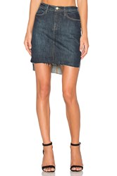 Frame Denim Le Staggered Mini Skirt Catamaran