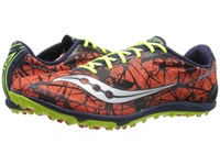 Saucony Shay Xc4 Flat Red Navy Citron Men's Running Shoes Orange
