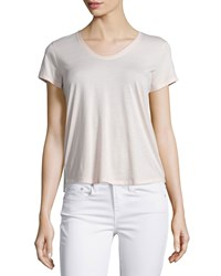 Vince Rounded V Neck Jersey Tee New Buff