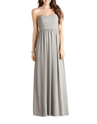Donna Morgan Sweetheart Chiffon Gown Sterling
