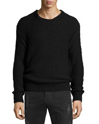 Iro Lukie Textured Knit Crewneck Sweater Black Men's