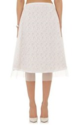 Prabal Gurung Fil Coupe Midi Skirt White