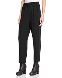 Eileen Fisher Silk Straight Ankle Pants Black