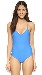 Mikoh Copacabana String Swimsuit Blue Hawaii