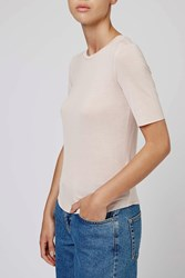 Raw Edge Tee By Boutique Pale Pink