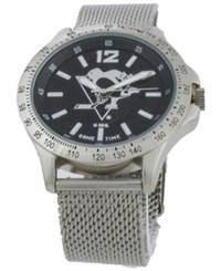 Game Time Pittsburgh Penguins Cage Series Watch Silver Black