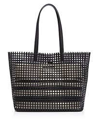 Loeffler Randall Beach Perforated Tote Black Natural