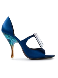Giorgio Armani Spoon Heel Sandals Blue
