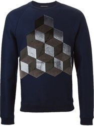 Christopher Kane Geometric Intarsia Sweater Blue