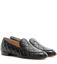 Gianvito Rossi Marcel Driver Quilted Leather Loafers Black