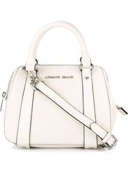 Armani Jeans Small Two Handle Crossbody Bag White
