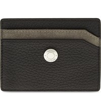 Reiss Colmar Grained Leather Card Holder Black