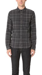 Alex Mill Cabin Plaid Flannel Shirt Grey Black