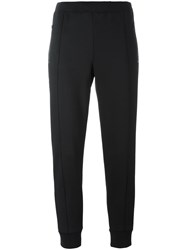 Etre Cecile Lateral Striped Cropped Trousers Black