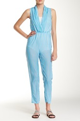 American Apparel Draped Front Jumpsuit White