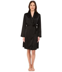 La Perla Silk Short Robe Black Women's Robe