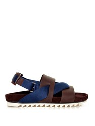 Lanvin Saw Sole Sling Back Sandals