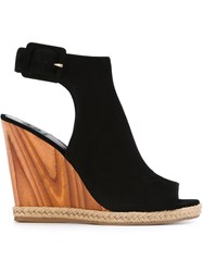 Tory Burch 'Raya' Wedge Sandals Black