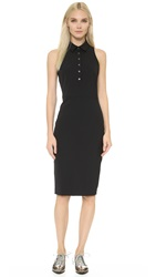 Veronica Beard Scuba Sleeveless Shirtdress Black