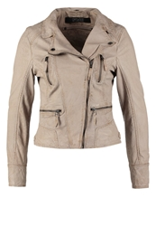 Oakwood Leather Jacket Light Beige