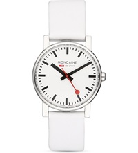 Mondaine A6583030011sbn Evo Leather Watch White