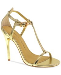 Chinese Laundry Leo T Strap Dress Sandals Women's Shoes Gold