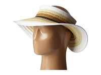 San Diego Hat Company Pbv007 Paper Braid Adjustable Roll Up Visor With Ribbon Edge Natural Casual Visor Beige