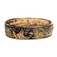 House Of Alaia Anchor Bangle Antique Bronze