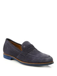 Fratelli Rossetti Lecco Leather Penny Loafers Blue