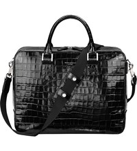 Aspinal Of London Mount Street Large Leather Tech Black