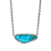 Irene Neuwirth Diamond Collection Women's Boulder Opal And Diamond Pendant Necklace No Color
