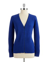 Calvin Klein V Neck Zip Up Cardigan Atlantis