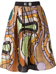 Peter Pilotto Printed A Line Skirt Yellow And Orange