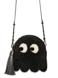 Anya Hindmarch Ghost Shearling Tasseled Shoulder Bag