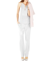 Bcbgmaxazria Mery Stitched Placket Halter Top Haze