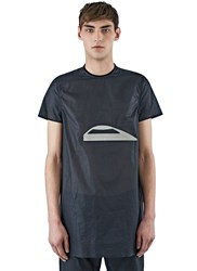 Rick Owens Oversized Sheer Cyclops T Shirt Black
