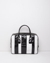 Comme Des Garcons Large Satchel Black White