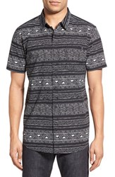 Men's Rip Curl 'Cabana' Trim Fit Print Woven Shirt Black