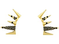 Sam Edelman Pave Spike Ear Cuff Black Gold Earring