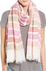Women's Echo 'Summer Stripe' Woven Wrap Red Persimmon