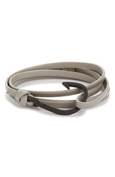 Miansai Men's 'Noir' Hook Leather Bracelet Gray