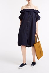 Sea Off The Shoulder Dress Navy