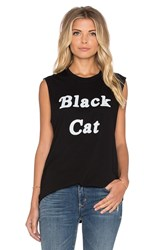 The Laundry Room Black Cat Muscle Tee Black And White