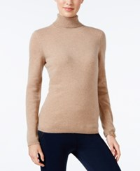 Charter Club Petite Cashmere Turtleneck Sweater Only At Macy's Cc Heather Camel